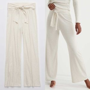 Aerie Ribbed Wide Leg Pants